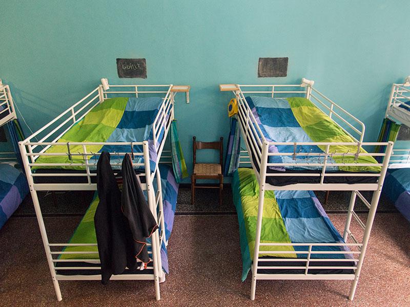 Letti a castello della Camera blu, Manena Hostel